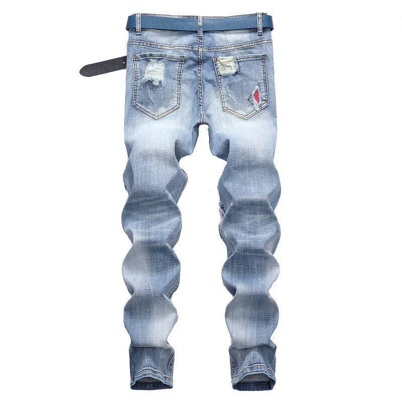 Homme Simple Vintage Italiano Slim Fit Cotton Jeans Denim Designer Botones Pantalones Ropa Clásica Hombres Top Jeans Marca Men1 Ejnjk