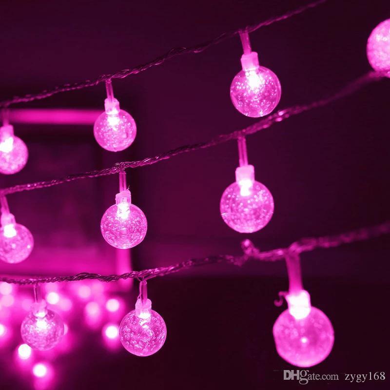 Солнечные светодиодные светильники 30 лампочек водонепроницаемый хрустальный шар рождественские кемпинг садовая вечеринка 8 мод 6.5m