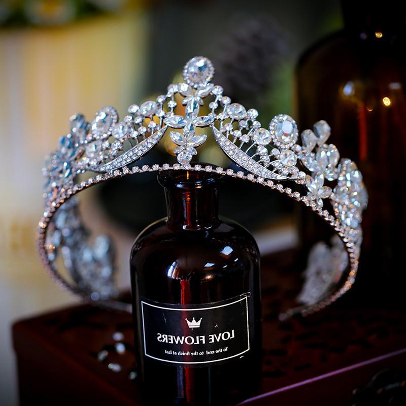 Imodeling coreano principessa diamante intarsiato lusso elegante copricapo grande corona di nozze