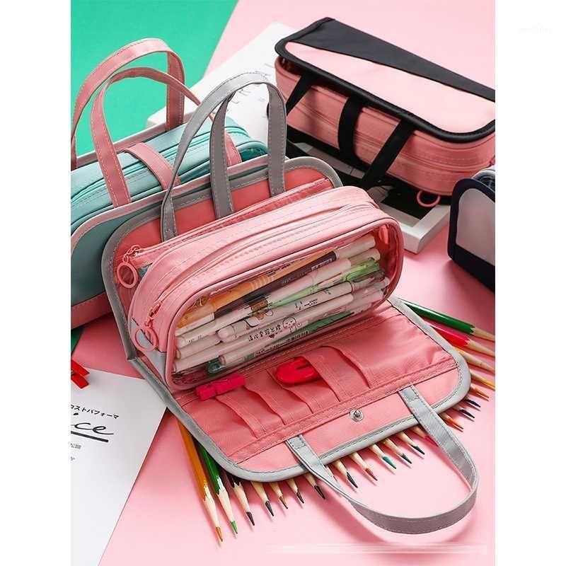 أكياس قلم رصاص حقيبة مستحضرات التجميل حقيبة غسل سعة كبيرة MBD047-050-7 مكتب المدرسة Pouch1