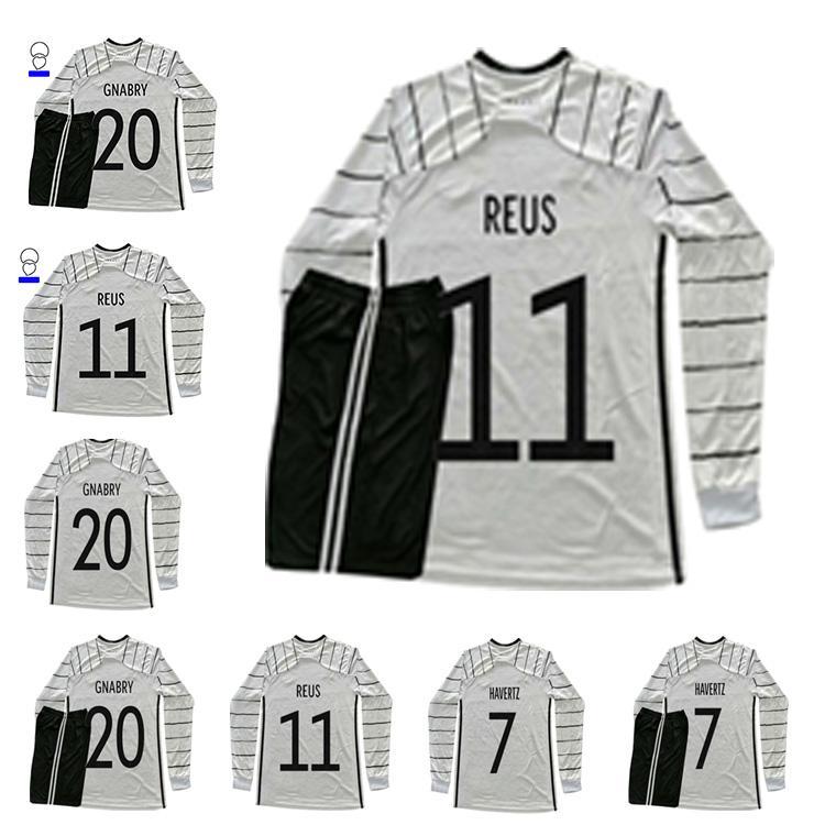 2021 Jersey de futebol Hummels Gnabry Gotze Werner Gundogan Reus Klostermann 20 21 Home Camisa de Futebol de Manga Longa de Alta Qualidade