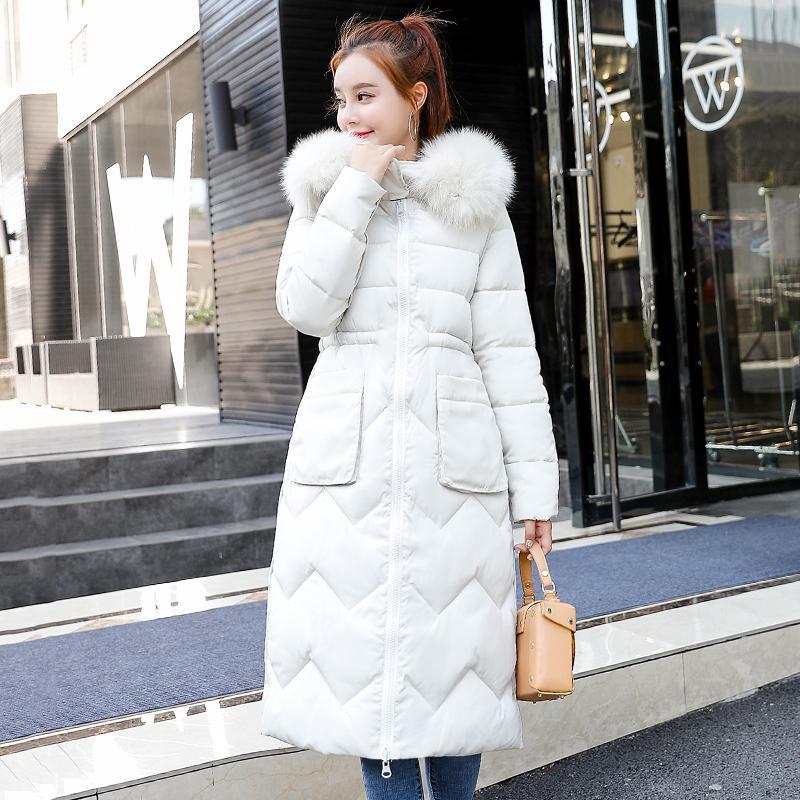 Обе обе стороны могут быть носимыми женщинами зимняя куртка Новое поступление с мехом с капюшоном длинное пальто хлопчатобумажные мягкие теплые Parka Womens Parkas 201123