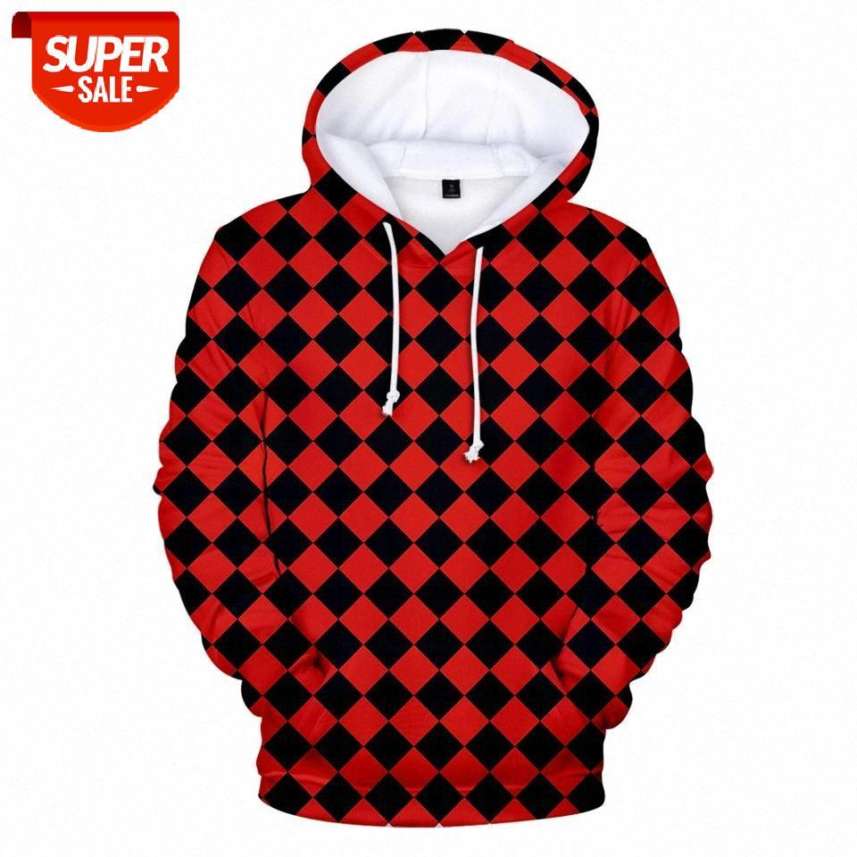 Plaid et noir Plaid imprimé 3D Demon Demon Sweat à capuche Sweatshirt Hommes / Femmes 3D Demon Demon Slayer Capuche automne confortable Sweat à capuche # 3H6V