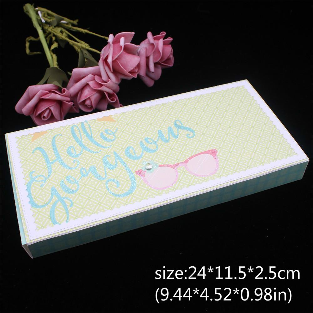 KSCRAFT Slimline Bulky Envelope Metal Cutting Dies Stencils for Scrapbooking/photo album Decorative Embossing DIY Paper Cards Q1127