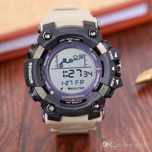 Gorący Sportowy Sport LED Cyfrowy Zegarek Iced Out Watch Electronic Men's Watch Wodoodporny i odporny na wstrząsy Czas czasu