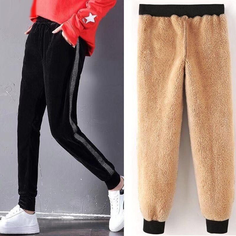 Befroww осень зима гарема теплые брюки женские толстые бархатные повседневные брюки женские ослабленные зимние причинные женщины брюки M-XL 201113