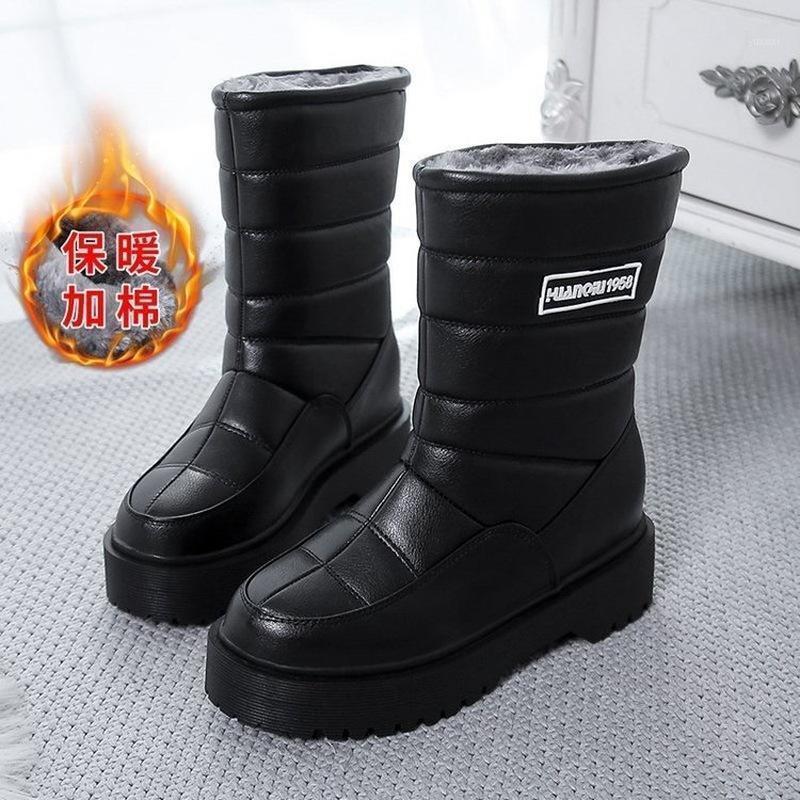 2020 Chaussures de randonnée imperméables à l'eau Hiver Outdoor Snow Bottes Femmes Peluche Chaud Escalade Chaussures Trekking Chaussures Femmes Bottes Plus Taille1