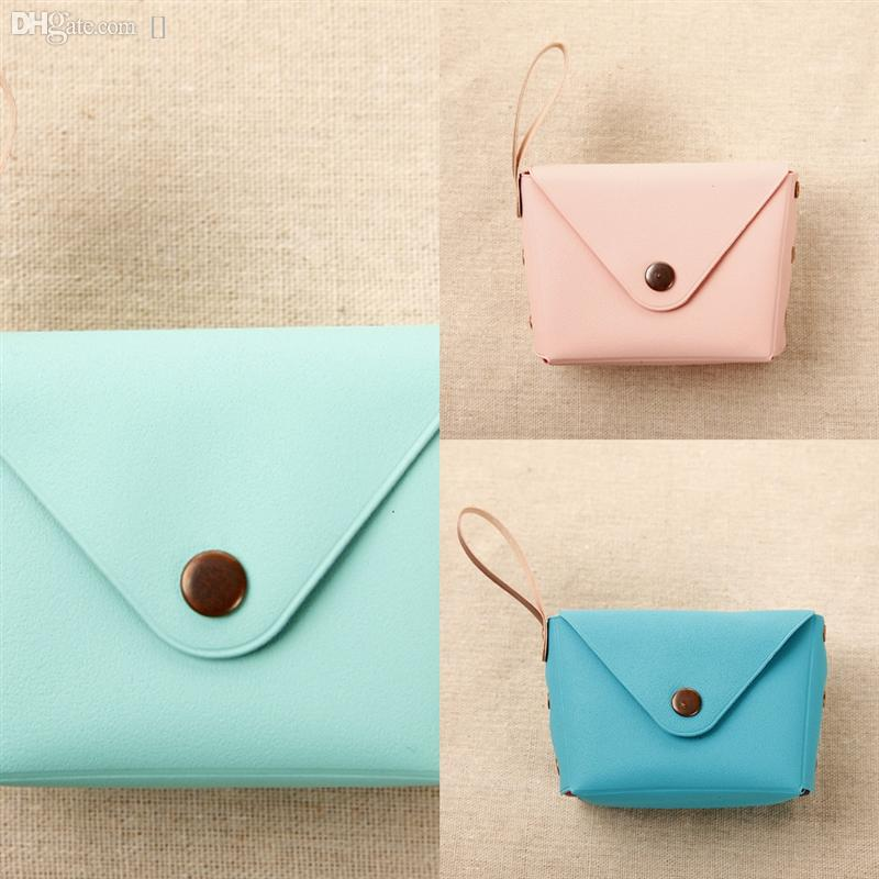 rjd4o spring and summer Cute new women's bee Macaron Candy Color clutch bag simple long Creative clutch bag casual sile coin purse woman