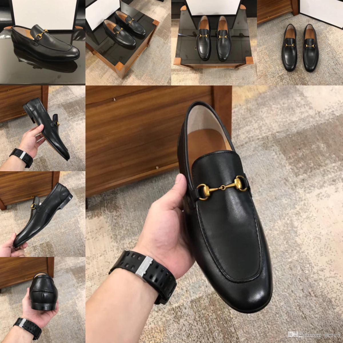 Scarpe da uomo di lusso Scarpe da sposa formali Scarpe da uomo Classic Mocassini da uomo Designer in pelle Designer Dress Shoes Sepatu Slip on Pria Chaussures Classique Homme