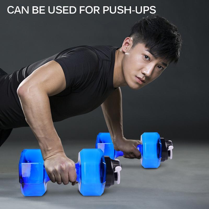 Outdoor Fitness Outdoor Große Wasserflasche 2,6l PETG Hantelförmige Sportlauf Fitness Übung Fitnessstudio Training Gewicht