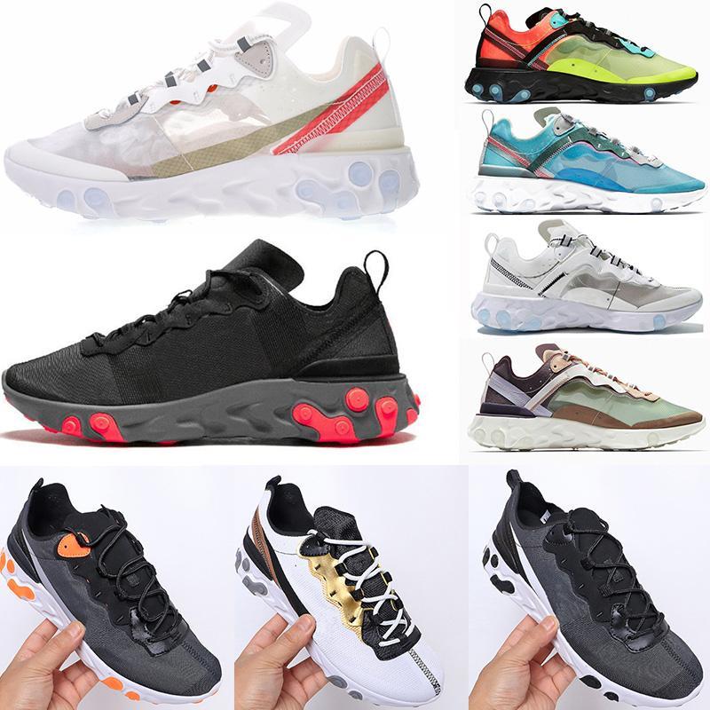 2020 رد فعل العنصر 87 الأحذية الرياضية حزمة القادمة الأبيض رجل مدرب الرجال النساء مصمم الأحذية عارضة أحذية zapatos أحذية رياضية