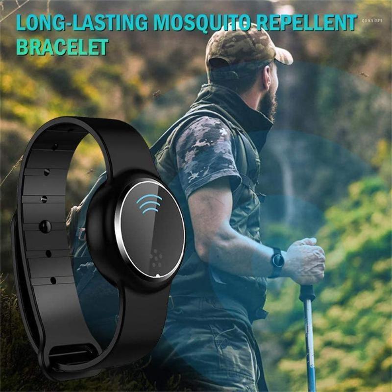 Pulseiras inteligentes portáteis mosquiteiro eletrônico repelente faixa de pulseira recarregável crianças ultra-sônica pulseira anti-mosquito em verão1