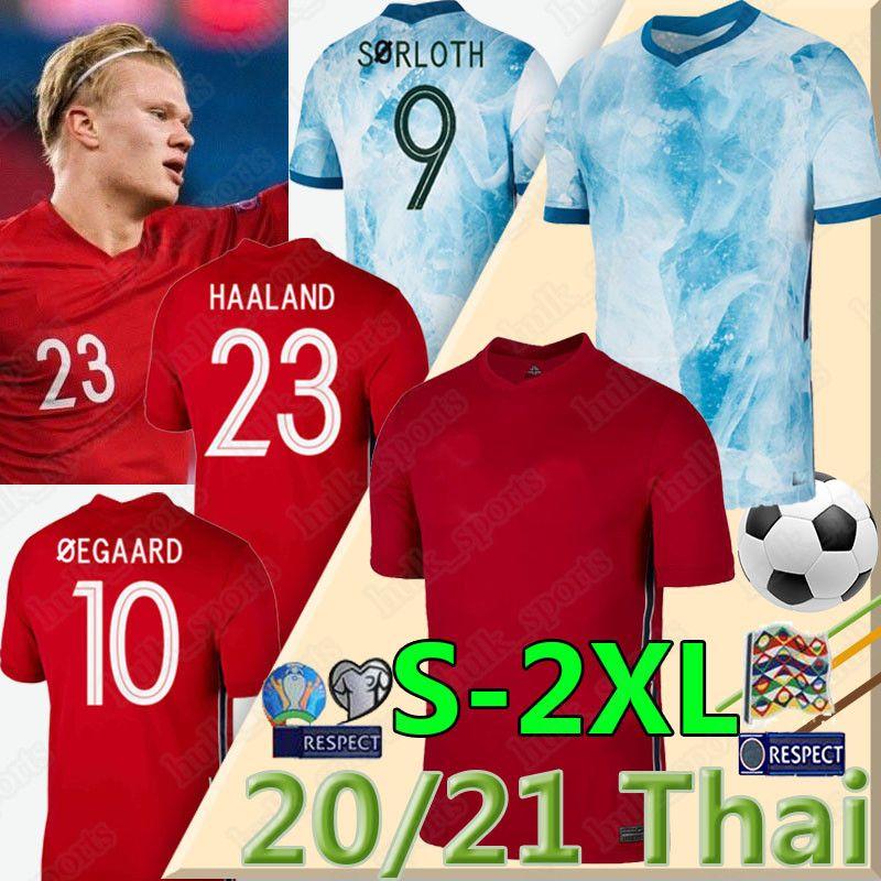 2020 2021 NOR de futebol da selecção nacional Jerseys Ullevaal Haaland Ødegaard Sørloth NORMANN Noreg Início Uma maneira de Futebol Fardas shirts Homem