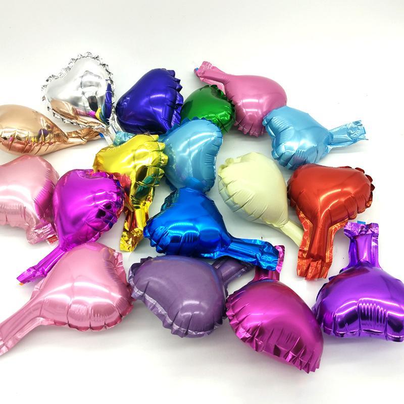 5 Zoll Folienballon Aluminium Film Heart Shaped Multi Color Valentinstag Hochzeit Braut Partei Luft-Ballone Dekoration 0 12ty L2
