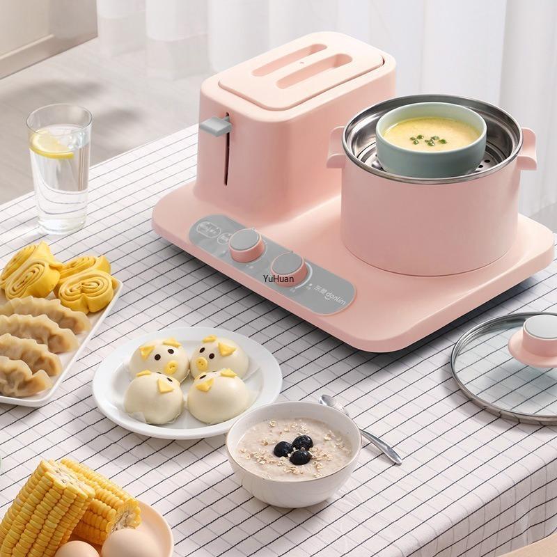 Haushaltsfrühstücksmaschine Multifunktional Drei-in-Ein-In-One-Sandwich-Schlafsäle Pot Topf Elektrische Eintopfwanne