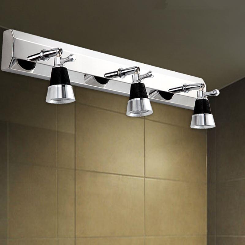 2/3 플러그 현대 스테인레스 스틸 욕실 미러 조명 / 화장실 램프 캐비닛 벽 램프 LED 미러 라이트 밤 화장실 조명