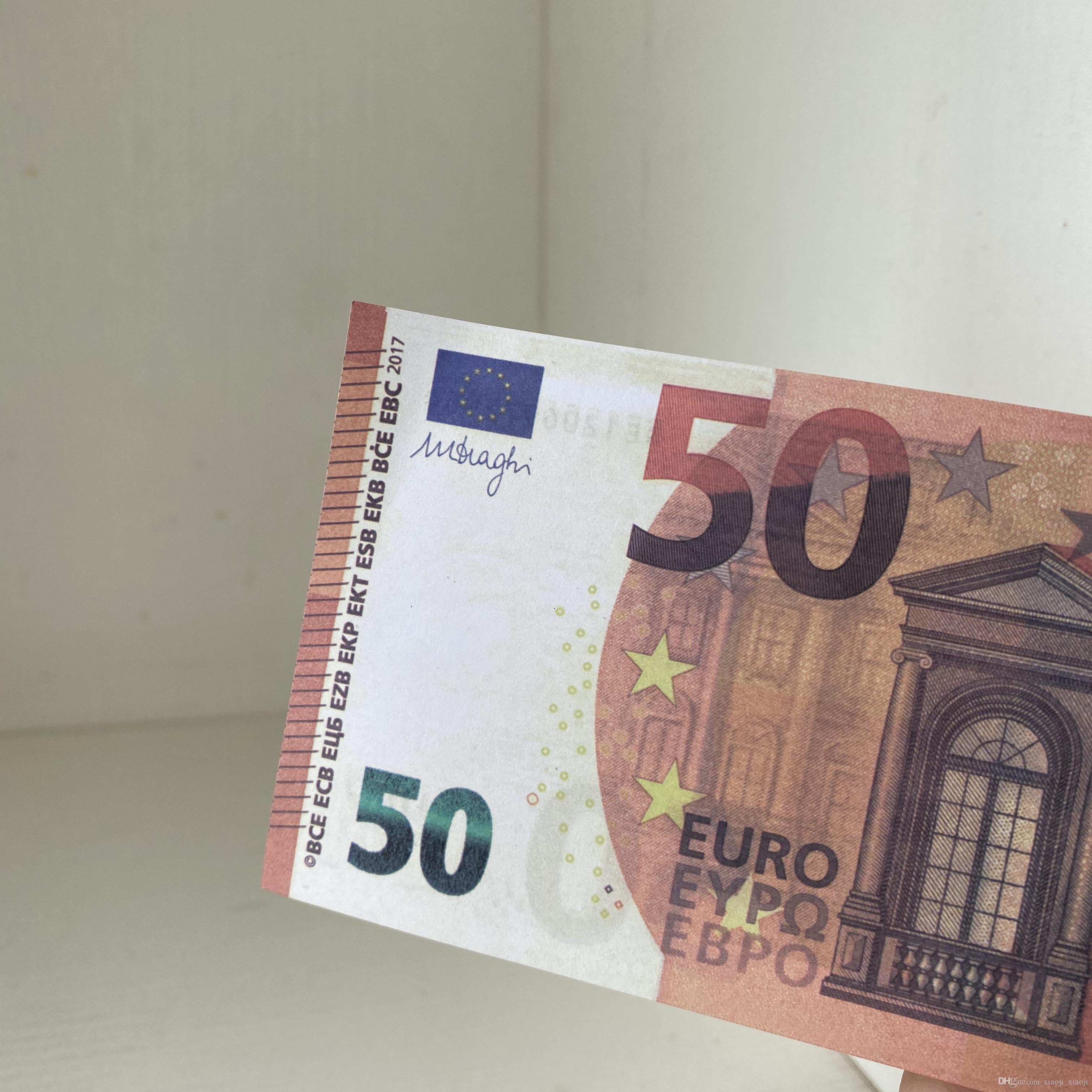 Simulación venta caliente Props Token Toy Toy Money Fake Coin Film 101 Televisión y Bar Pretty Game 50 Banknote Shooting Euro Buhqh