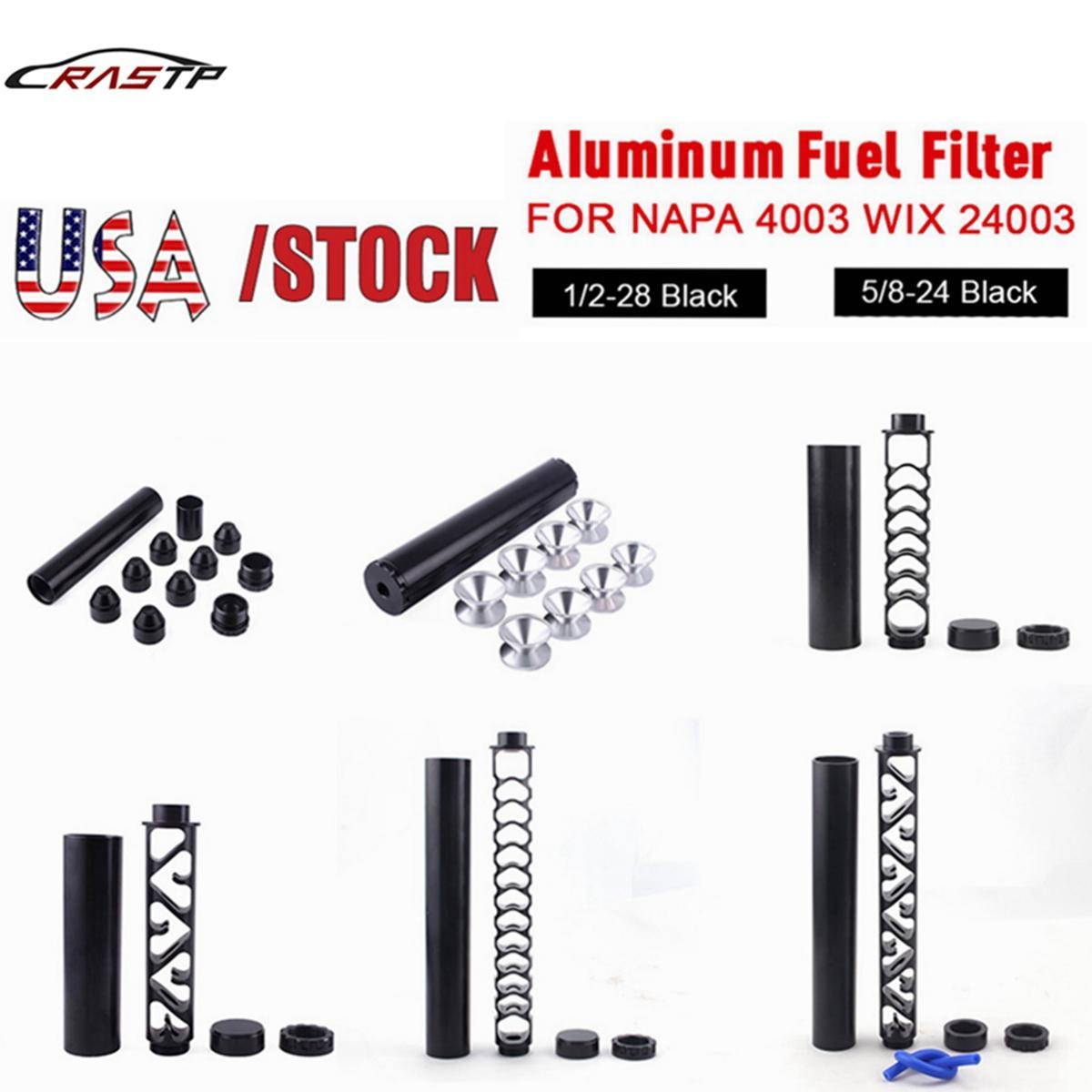 """USA Stock 6 """"Zoll / 10 Zoll Spirale 1/2-28 5/8-24 Einzelkern Aluminium Rohr Auto Kraftstofffilter Lösungsmittelfalle für NAPA 4003 WIX 24003 Auf Lager"""
