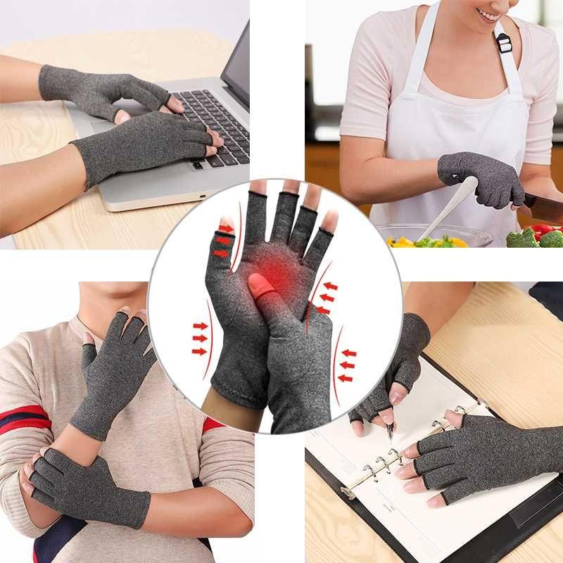 Guantes de artritis Hombres Mujeres Reumatoide Compresión Guante de mano para anti artritis magnética Terapia de compresión de salud Guantes