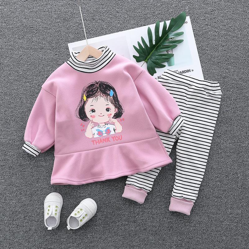 Girl's Suit Winter Sweet Children's Sweater D07.10 X0923