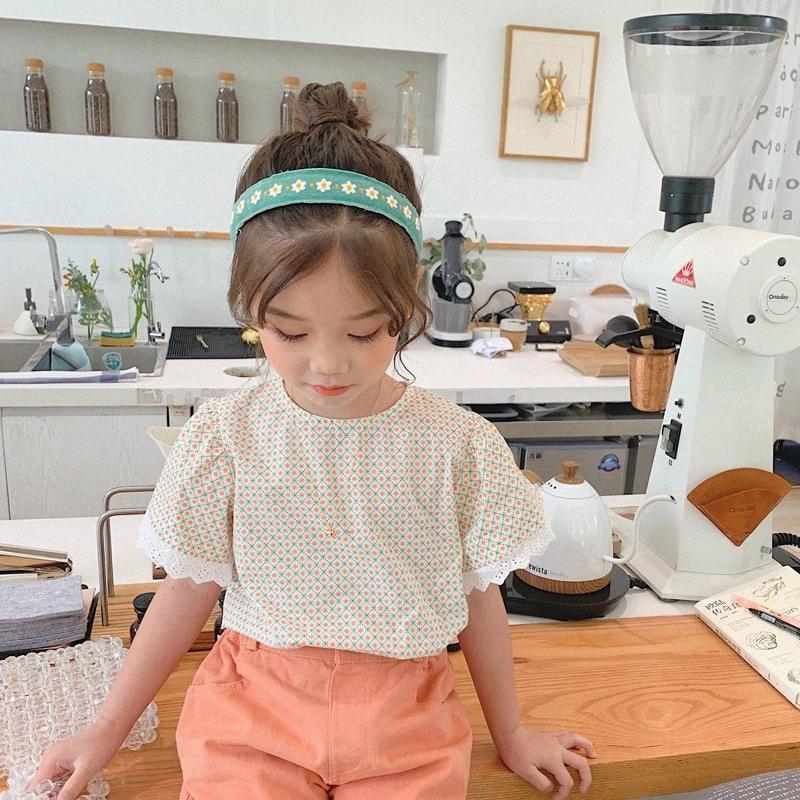 2020 Kore Stili Bebek Kız Çiçek Gömlek Yaz Çocuk Kız Bluz Çocuk Giyim 2 7 Yıl 5VG9 #