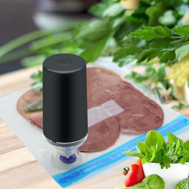 Mini USB Handheld Vacuum Sealer Упаковочная машина Фильм Контейнер Packer Кухня бытовой инструмент U1JE