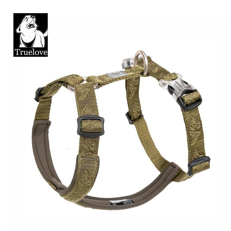 Truelove Best Trail Runner Runner No-Pult Dog жгут с премиальными материалами Маленький, средний, крупные собаки армии зеленый YH1801 201126