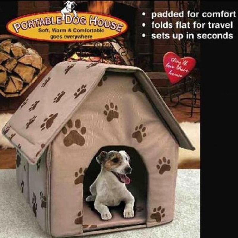 Haustier Hund Bett Faltbar Hunde Haus Kleiner Fußabdruck Haustier Bett Zelt Katze Kennel Indoor Tragbare Reise Haus Kennel Welpen MAT1