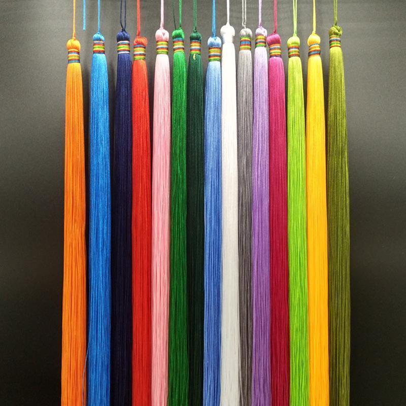 2pcs 33cm Très longue Baisse Tassel Bijoux DIY Home Home Rideau textile Vêtement Décoratif Création de charmes Pendentifs Pendentifs Tassels H Jllugx