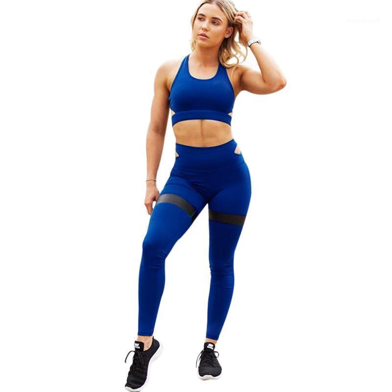 Новые женщины 2 шт. Юга набор бюстгальтер + леггинсы фитнес высокая талия эластичный толчок брюки спортивная одежда костюм тренировок женский трексуит1