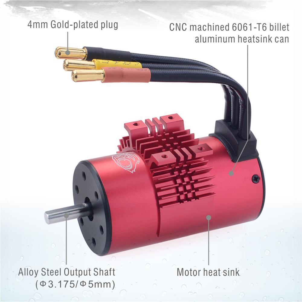 Sarap Hobi Su Geçirmez 3665 Fırçasız Motor 5.0mm 1800 KV 2300 KV 3100KV 80A ESC 1/10 2 S 3 S RC Drift Yarış Off-Road Araba için