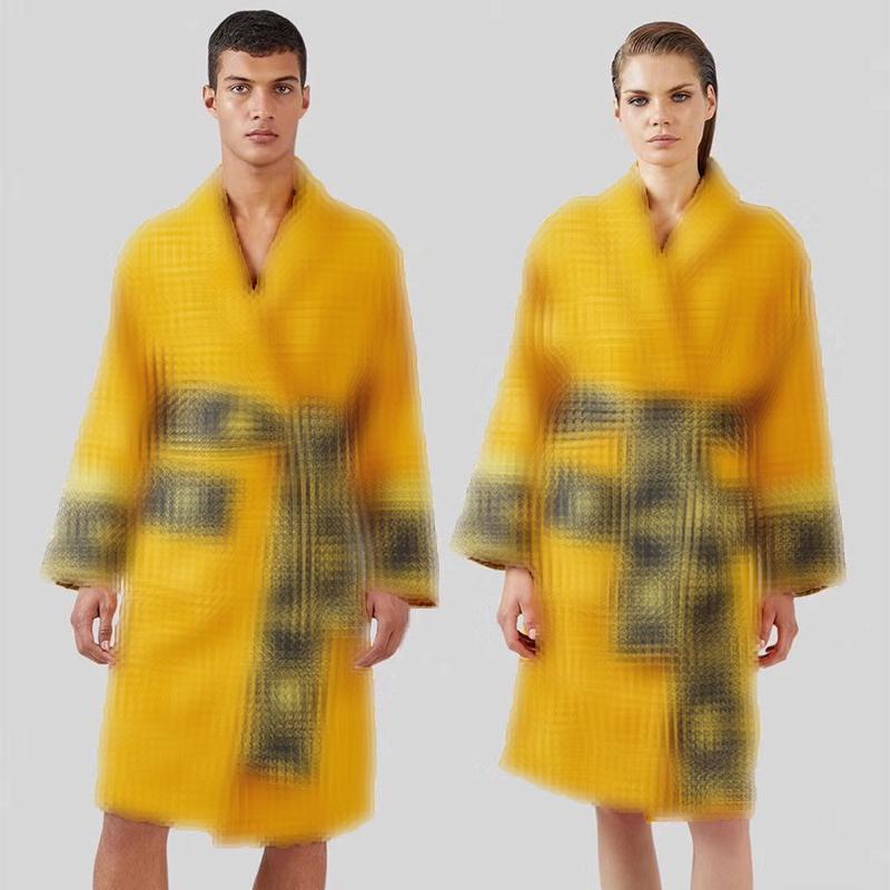 Marca barroco Albornoz Hombres Mujeres Batas nocturno Pareja Robe Diseñador Señalización Bata de Baño transpirable camisones de algodón Noche Robes Inicio desgaste