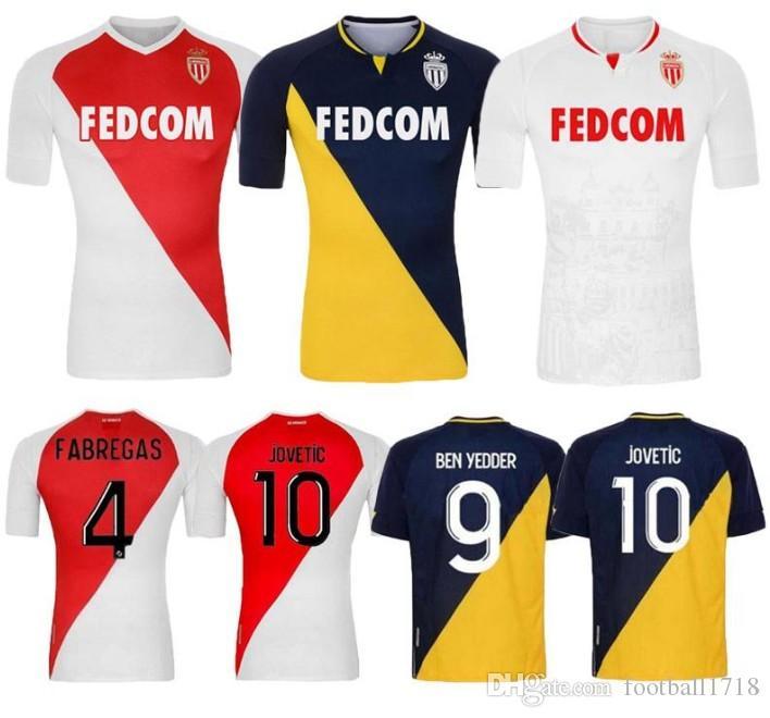 2020 2021 모나코 벤 Yedder 축구 유니폼으로 최고 품질 Jovetic Golovin 20 21 Maillot de Flocage Jorge Men Kids Football Shirt