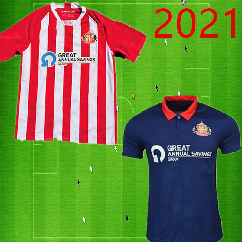 2020 2021 Sunderland Maillots de football ACCUEIL ROUGE EAU LOIN BLEU Honeyman 20 21 WEMBLEY MAJA Gooch football chemises MAGUIRE WYKE Maillots de foot