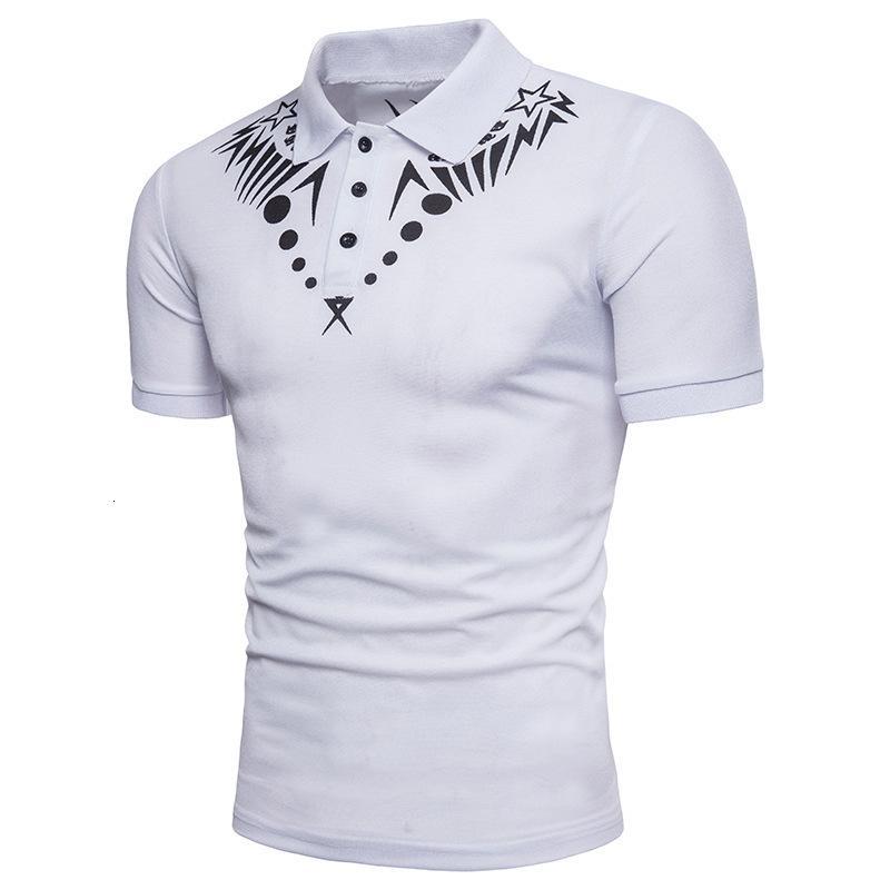 Homme Polo Camisa Masculina Coton Chemise à manches courtes Géométrique Sports Summer Summer Sports Jerseys Golf Blusas Tops