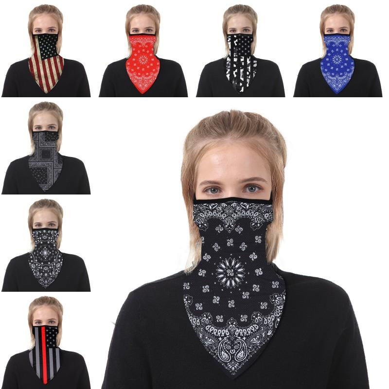 DHL envío de moda cara bandana lavable triángulo mágico bufanda oreja aro invierno cuello cuello cuello al aire libre ciclismo máscara protectora kimter-z12z