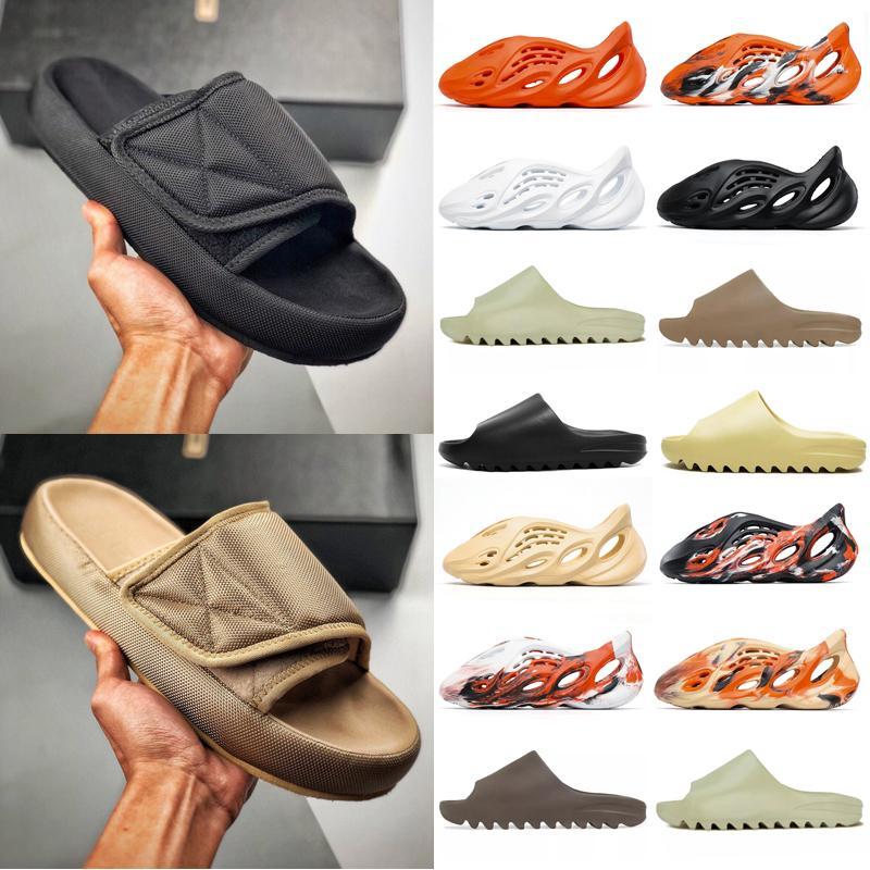 adidas Kanye West yeezy Slide Clog Sandal yezzy yeezys Foam Runner Triple Black  Fashion Slipper Women Mens Tainers bone 450 Designer Beach Sandals Slip-on Shoes