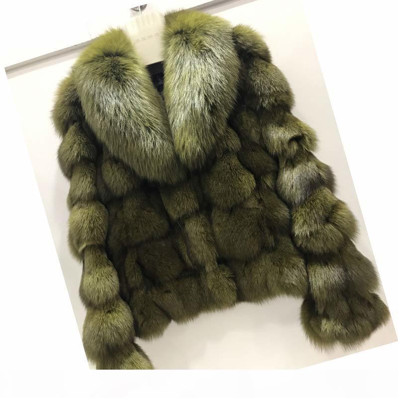 Ethel Anderson Luxury Genuine Real GiacketCaats con colletto per ladies Breve Volpe Capispalla in Pelliccia Garmenti T200104