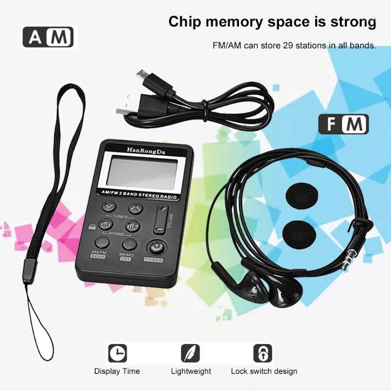 Radio portatile Batteria ricaricabile FM / AM Radio con display LCD Volume regolabile 3,5 mm Auricolare1
