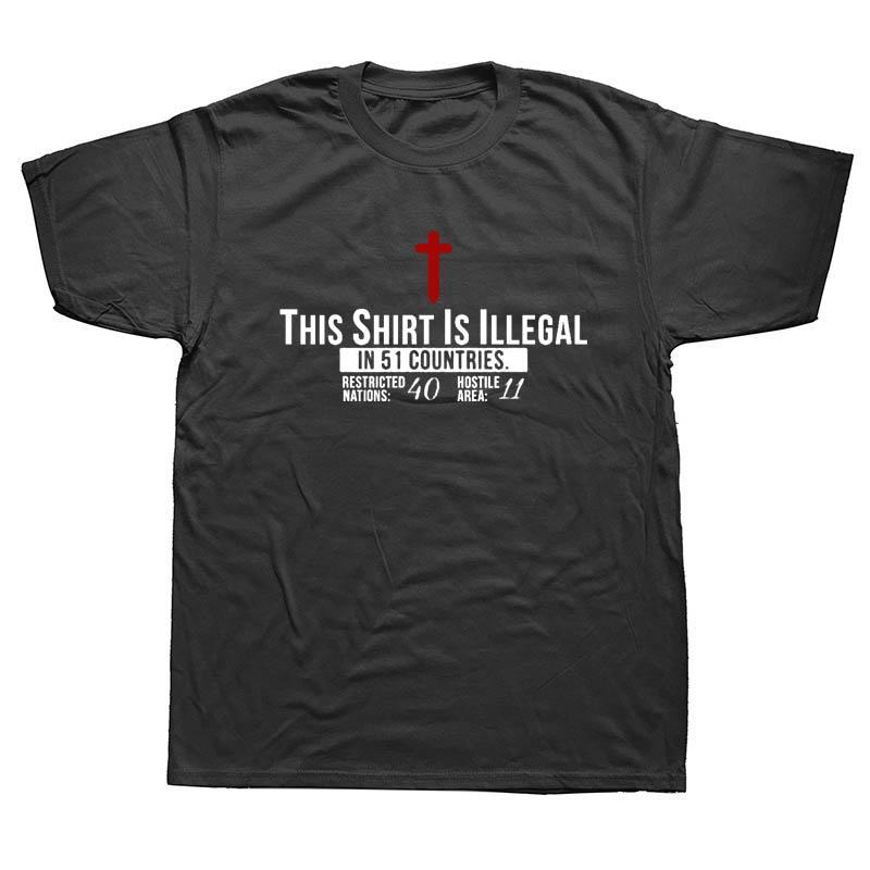 sport degli uomini di divertente questa maglia È ILLEGALE PREGATE maglietta Christian GESÙ CRISTO fede religiosa uomini della maglietta di Hip Hop maglietta Fashion Tee