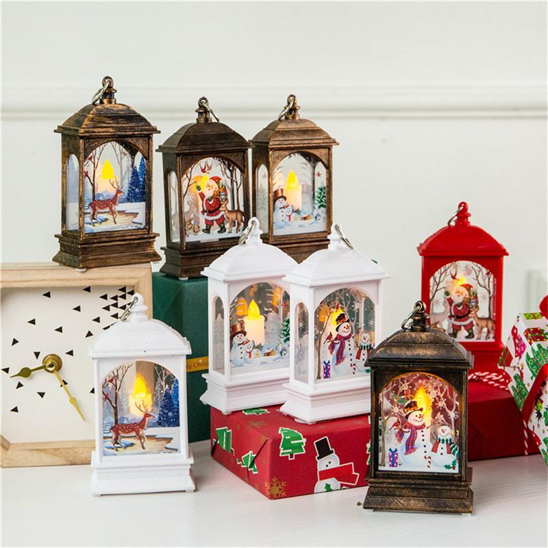 Christmas Night Light Desktop Lamp Party Decoration Luminous Santa Snowman Elk Decoration Lamp Merry Christmas Home Office Decoratio DHA1827