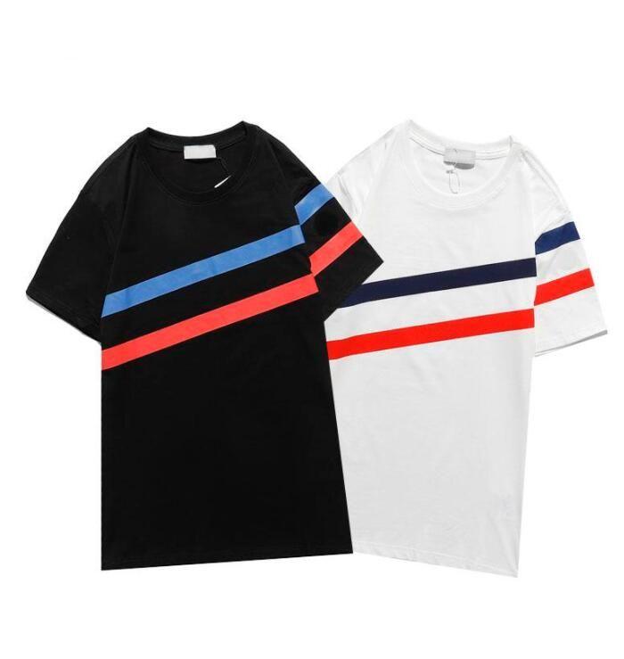 2021 Новая Мода Вышивка Футболка Летние Горячие Продажи Мужчины Женщины Дизайн Футболки Женские Футболки Высокое Качество Черный Белый 3 Стили