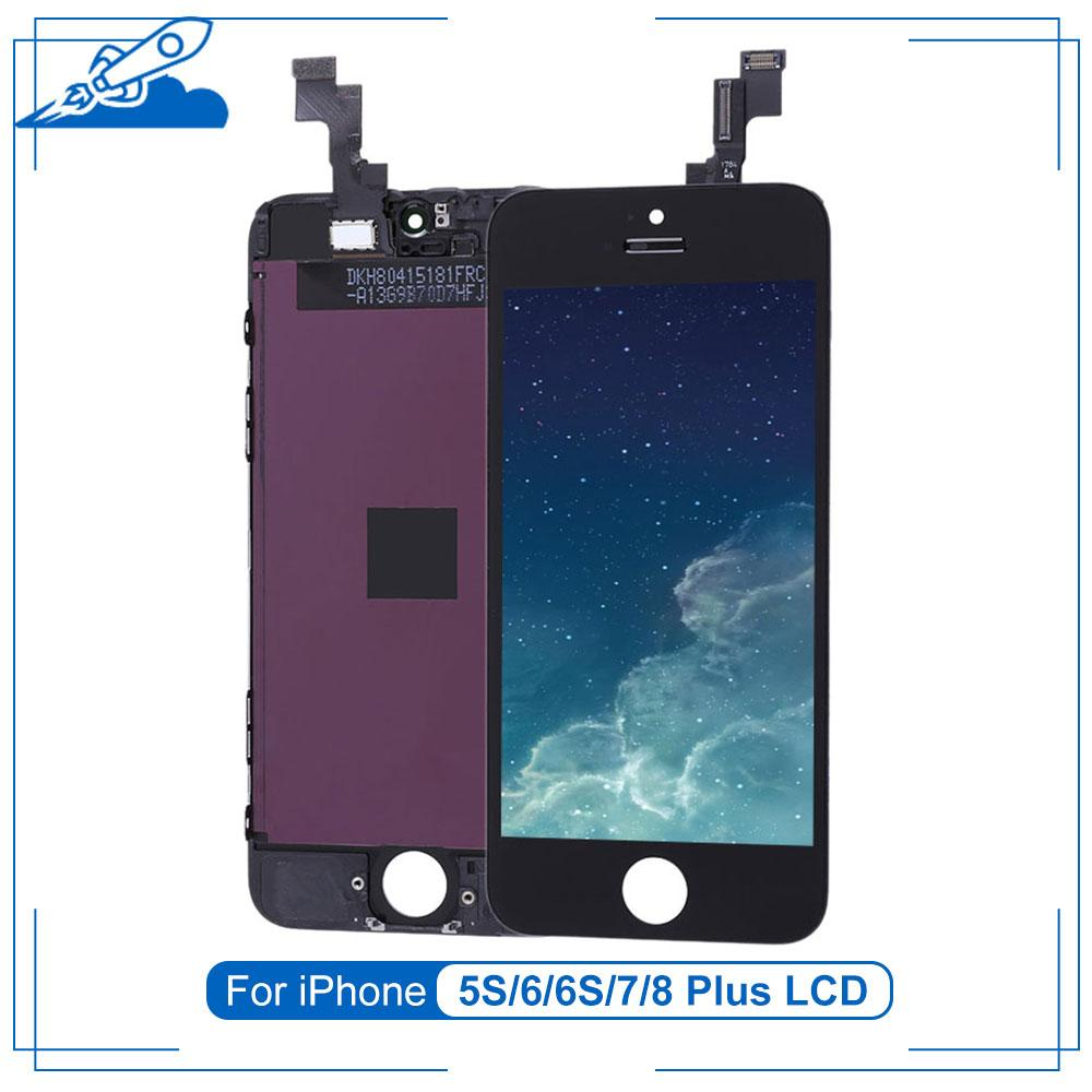 Elekworld Grade For iPhone 5S SE 6 6s Plus Display 7 8 LCD Touch Screen Digitizer Assembly Parts No Dead Pixel