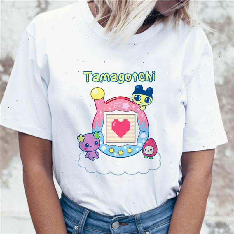 Tampot Tamagotchi T-shirt graphique coréen T-shirt drôle Harajuku T-shirt T-shirts Femmes Top pour Ulzzang Vêtements