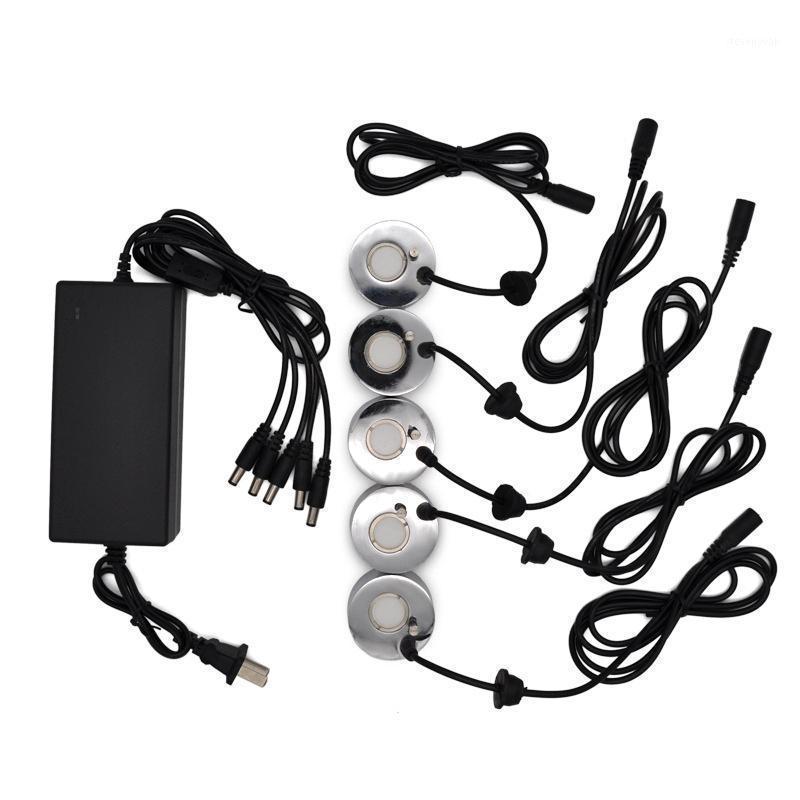 Névoa fabricante fogger umidificador ultrassônico com 5 pcs atomizing cabeças fonte de água atomizador atomizador ar umidificador US plug1