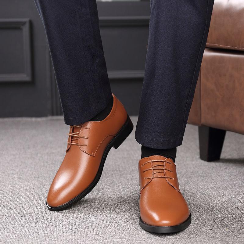 ACEBUY2 Primavera E Verão respirável Negócios sapatos coreano Versão sapatos masculinos de couro do Men Inglaterra Vestido