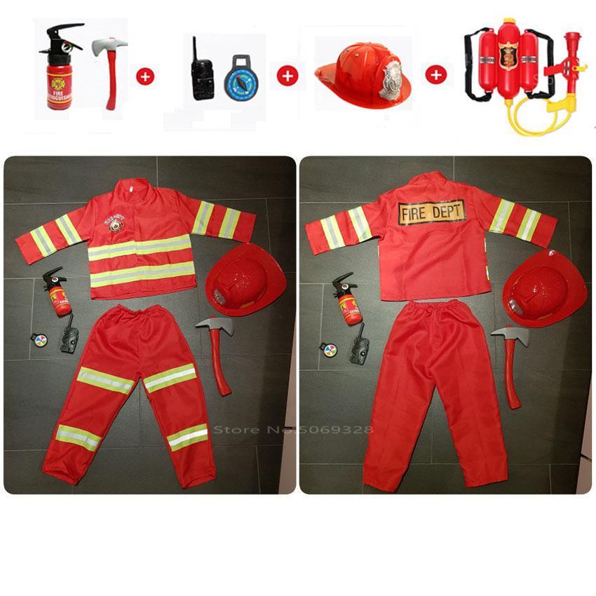 Bambini giorno vigile del fuoco di polizia uniforme del camion dei vigili del fuoco dei bambini dei bambini dei pompieri dei pompieri della neonata del pompiere della neonata del pompiere del pompiere del pompiere del pompiere del pompiere del pompiere del pompiere del pompiere del pompiere