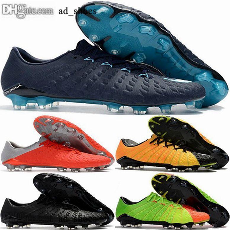 crampons de football hommes nous taille Tripler noir 12 AG 46 38 Hypervenom femmes blanches FG Phantom 3 chaussures chaussures de football eur Zapatos Crampons de mens
