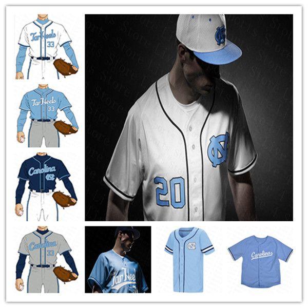 NCAA College UNK North Carolina Tar Tar Heels Baseball Jersey 사용자 정의 Aaron Sabato Dylan Harris Tyler Causey Sewart Max Alba Alvarez Love