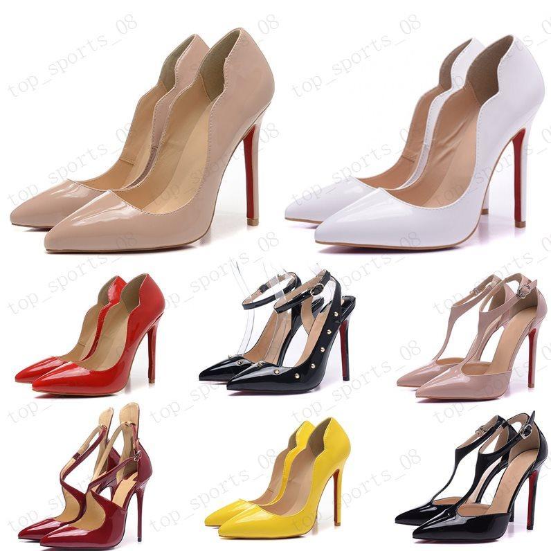 2020 Moda Feminina Bombas Mulheres Vermelhas Bottom Sapatos Altos Saltos Stilettos Bombas Sapatos Para Mulheres Sexy Party Sapatos de Casamento Mulher